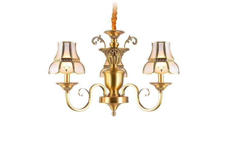 country dinging light EME LIGHTING Brand antique brass chandelier