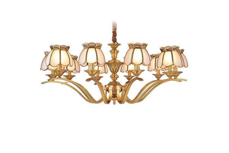 EME LIGHTING luxury solid brass chandelier vintage for big lobby-1