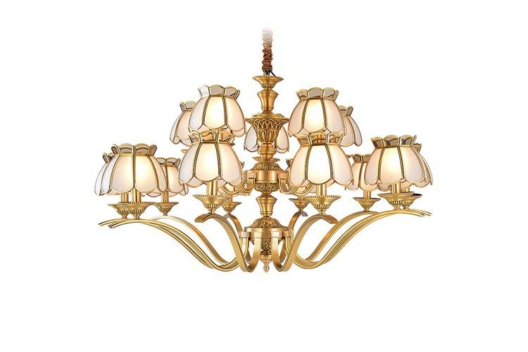 concise 10 light brass chandelier traditional for home EME LIGHTING