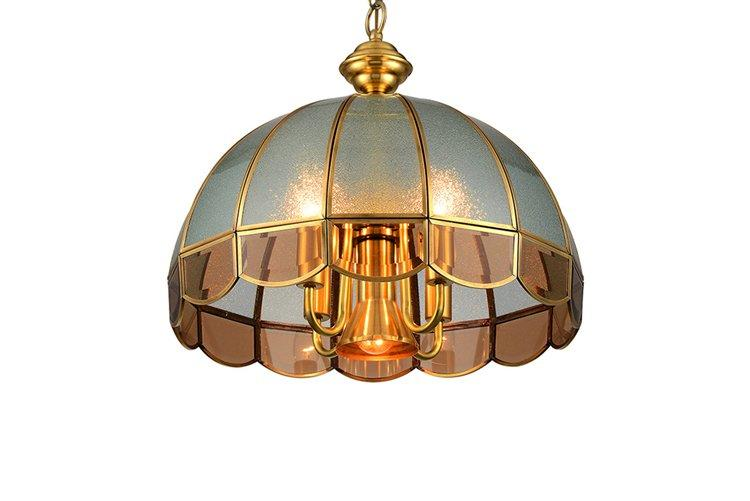 antique copper lights glass hanging traditional for big lobby