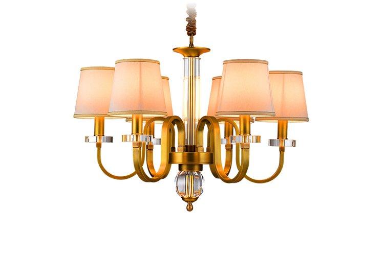 EME LIGHTING large vintage brass chandelier residential-1