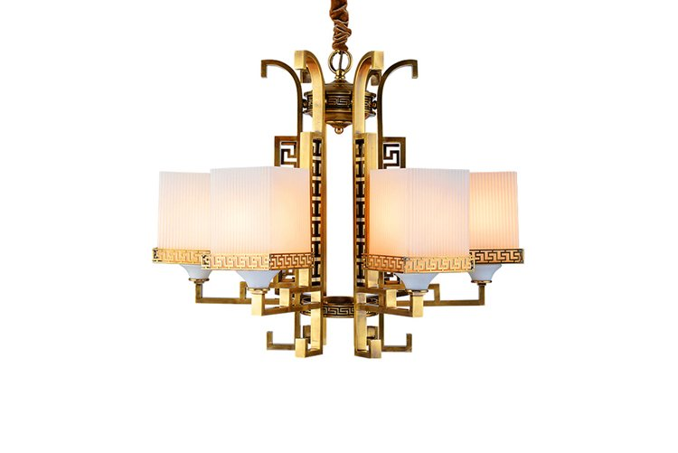 EME LIGHTING american style brushed brass chandelier European for home-1