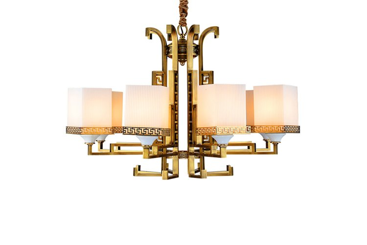 contemporary antique brass chandelier american style unique for dining room-1