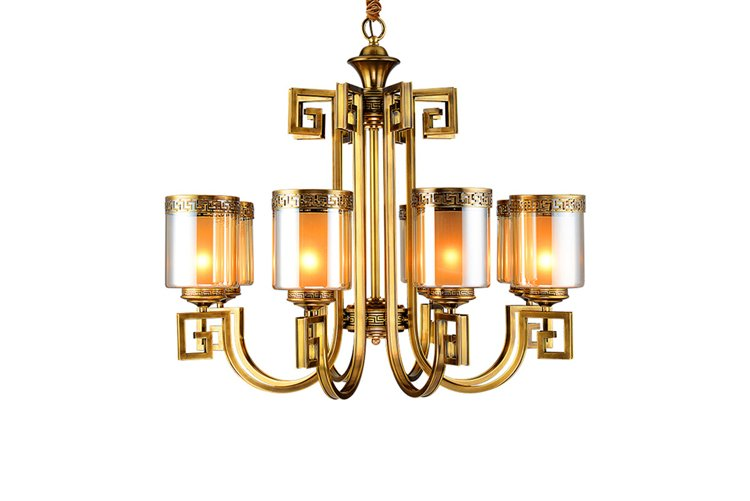 EME LIGHTING american style solid brass chandelier traditional for dining room-1