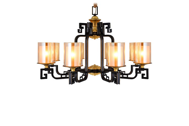 modern solid brass chandelier large European for big lobby-1