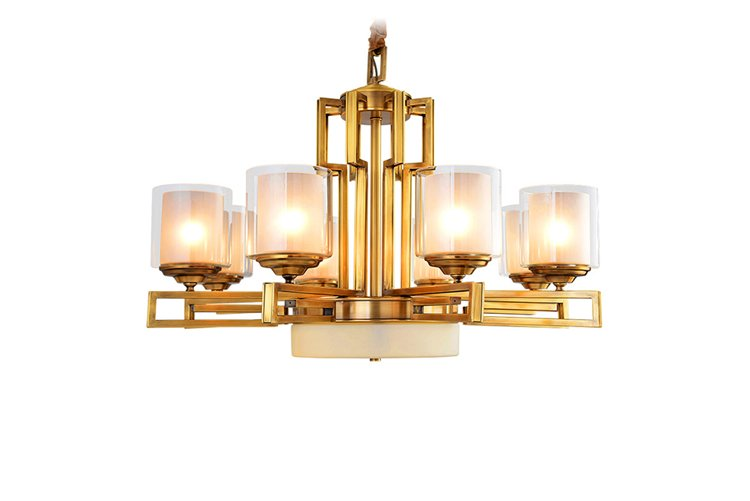 EME LIGHTING concise brushed brass chandelier residential-1