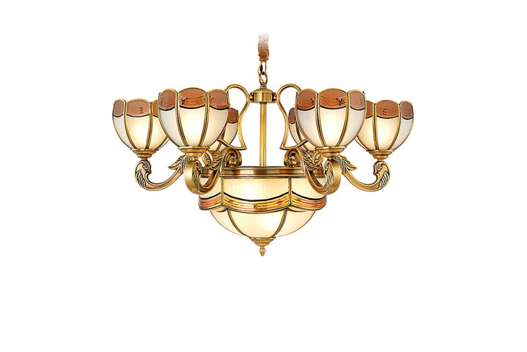 luxury antique brass chandelier copper traditional for dining room-1