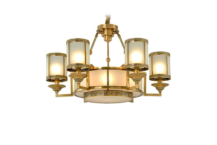 EME LIGHTING contemporary antique brass chandelier traditional for home-1