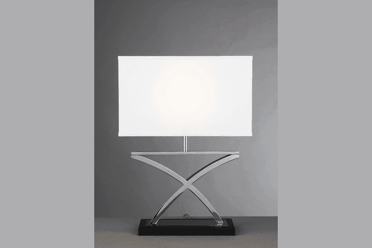 chrome and glass table lamps western european western table lamps style EME LIGHTING Brand