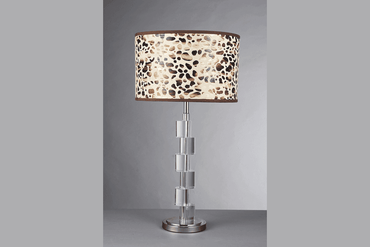 retro wood table lamp modern unique design brass material for study
