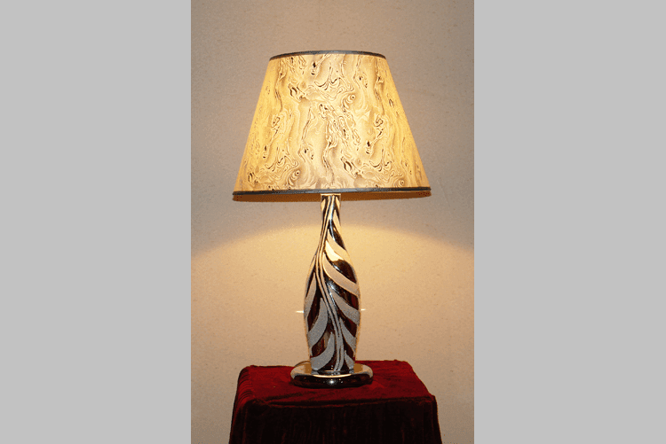 decorative oriental table lamps glass flower pattern for hotels