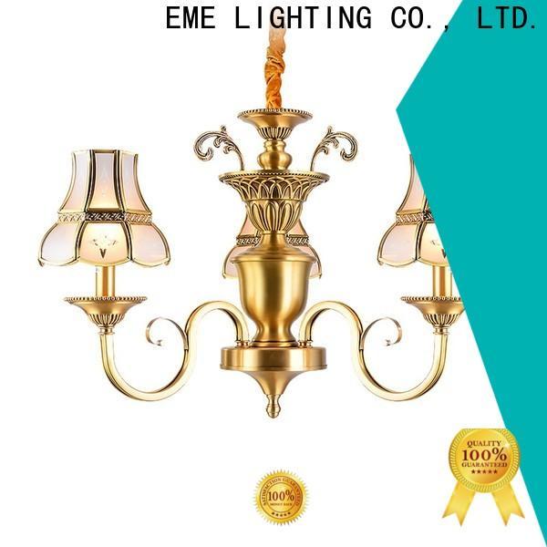 EME LIGHTING glass hanging vintage brass chandelier vintage for dining room