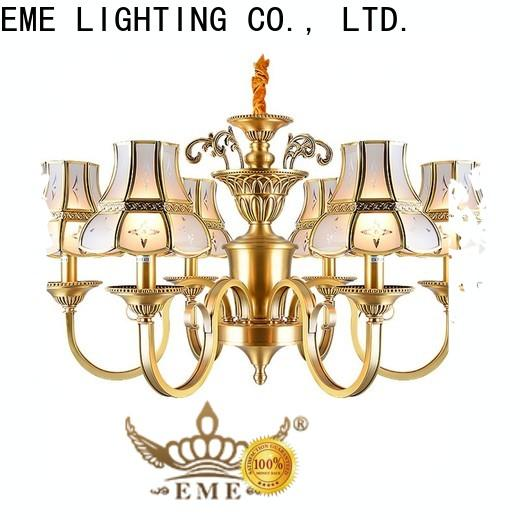 luxury vintage brass chandelier glass hanging residential for big lobby
