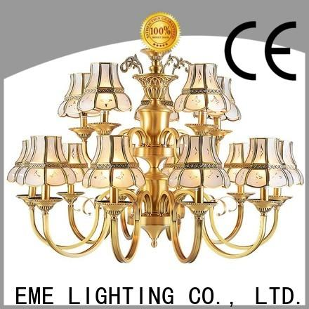 EME LIGHTING large brushed brass chandelier round for home