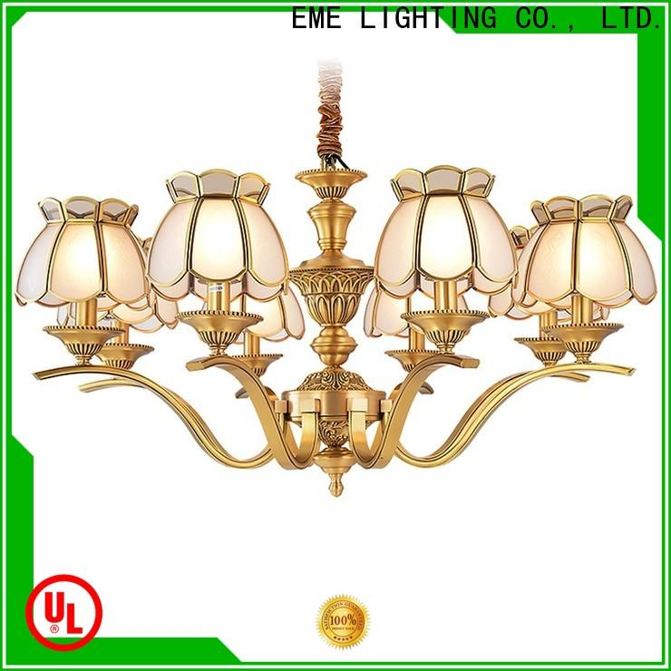modern solid brass chandelier american style round for dining room