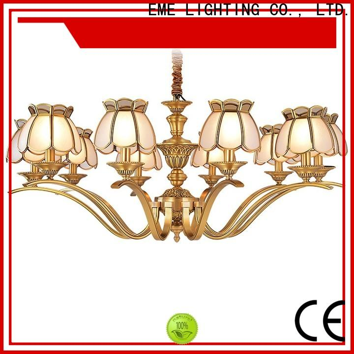 EME LIGHTING luxury solid brass chandelier vintage for big lobby