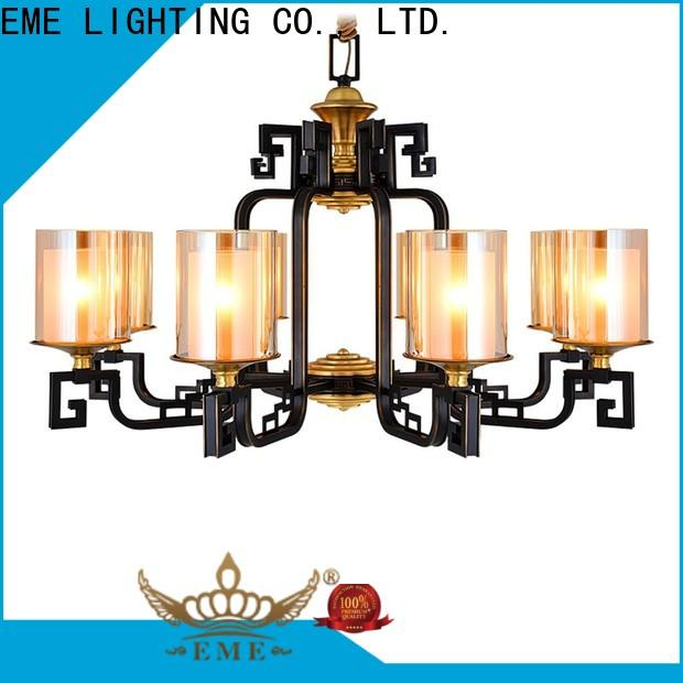 EME LIGHTING copper vintage brass chandelier round for dining room