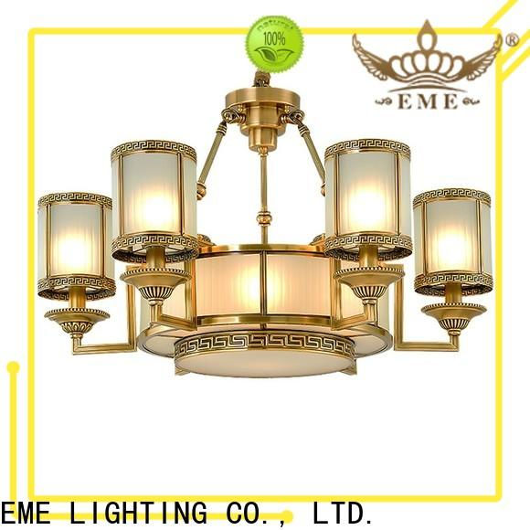 EME LIGHTING contemporary antique brass chandelier traditional for home