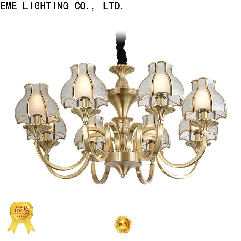 EME LIGHTING american style antique brass chandelier residential