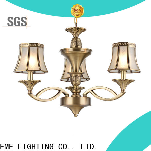concise antique copper pendant light copper round for home