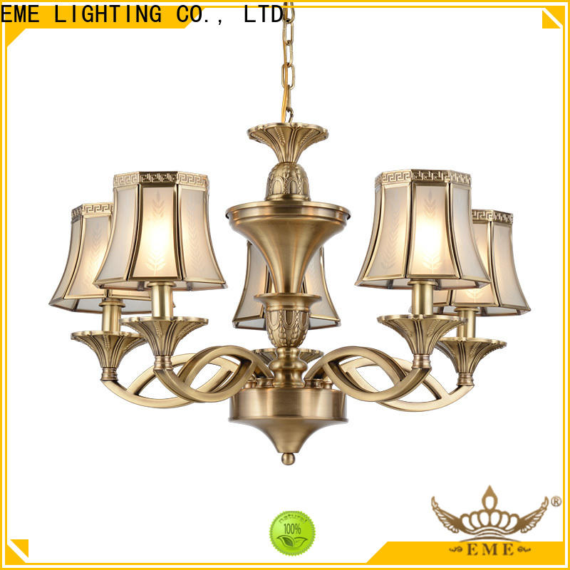 EME LIGHTING copper chandeliers wholesale round for big lobby