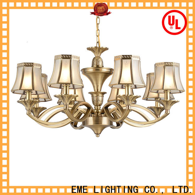 EME LIGHTING concise antique brass chandelier traditional for big lobby