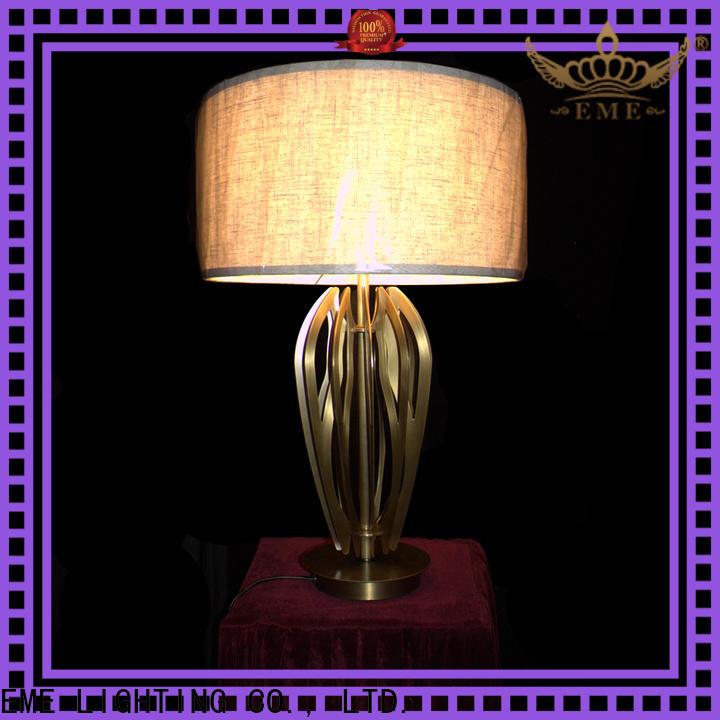 EME LIGHTING vintage glass table lamps for living room copper material for bedroom