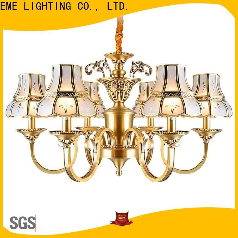 EME LIGHTING decorative brushed brass chandelier vintage for big lobby