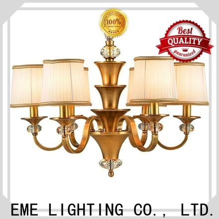 EME LIGHTING glass hanging restaurant chandeliers traditional for big lobby
