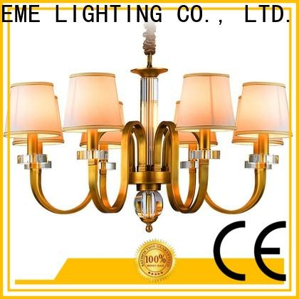 EME LIGHTING concise copper lights unique for big lobby