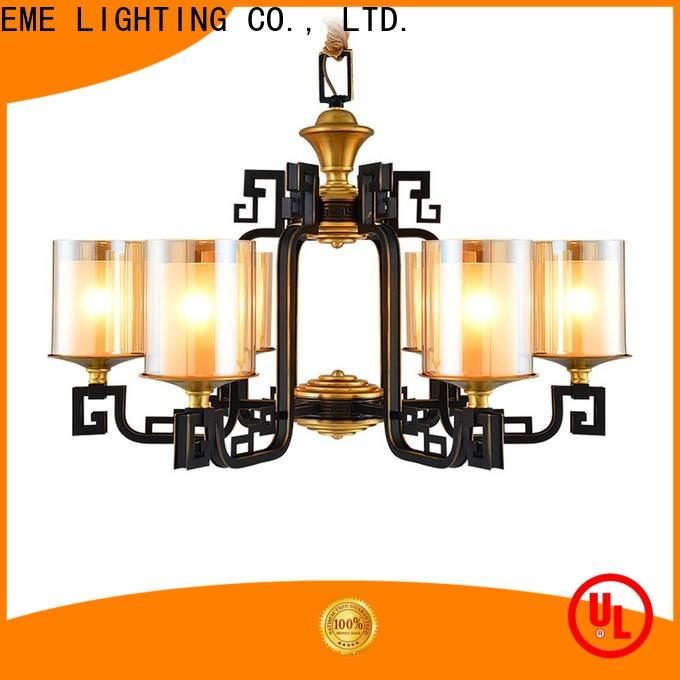 EME LIGHTING copper bronze crystal chandelier round for home