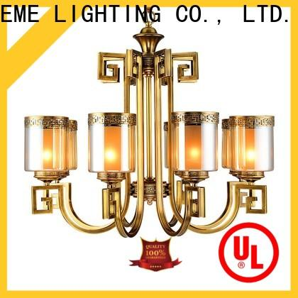 EME LIGHTING concise vintage brass chandelier residential for big lobby