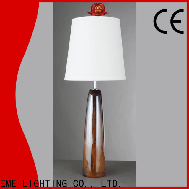 EME LIGHTING unique design glass table lamps for bedroom bulk production for house