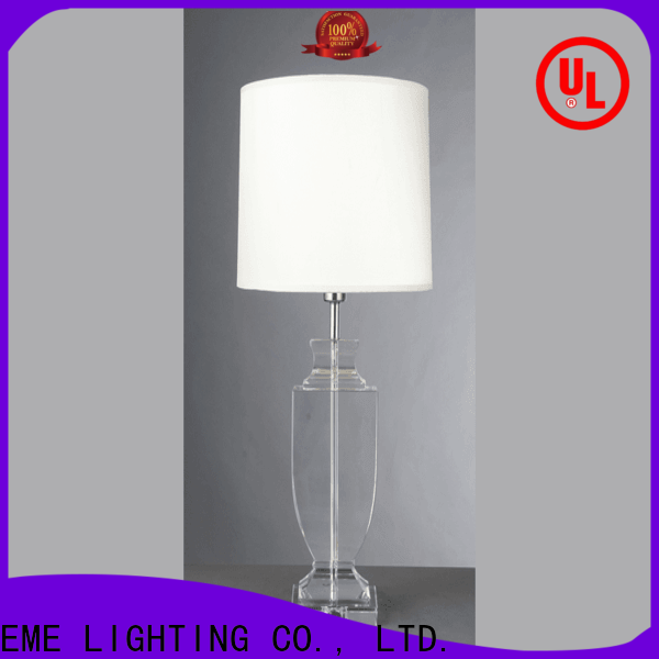 contemporary glass table lamps for bedroom decorative factory price