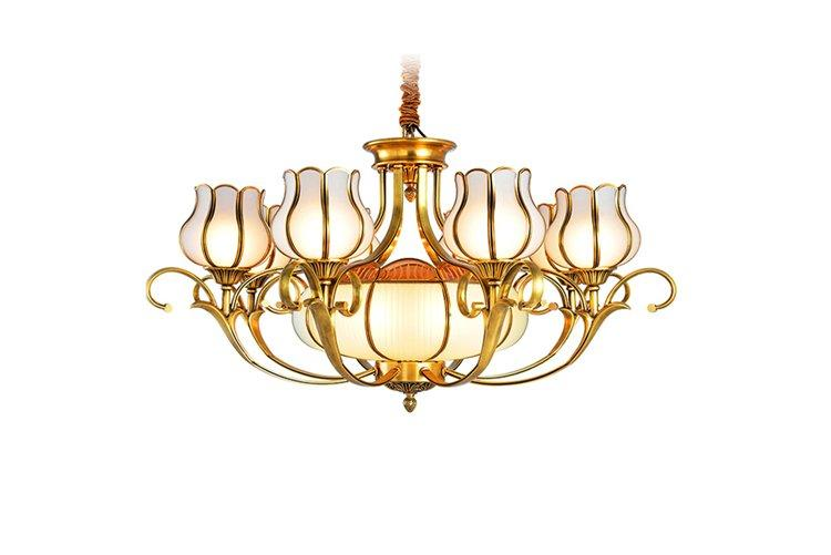 contemporary antique brass chandelier glass hanging traditional for big lobby-1