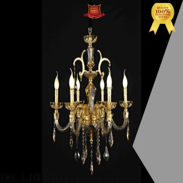 EME LIGHTING round flush mount crystal chandelier latest design for dining room