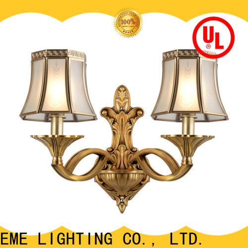 EME LIGHTING unique design brass wall sconce OEM for restaurant