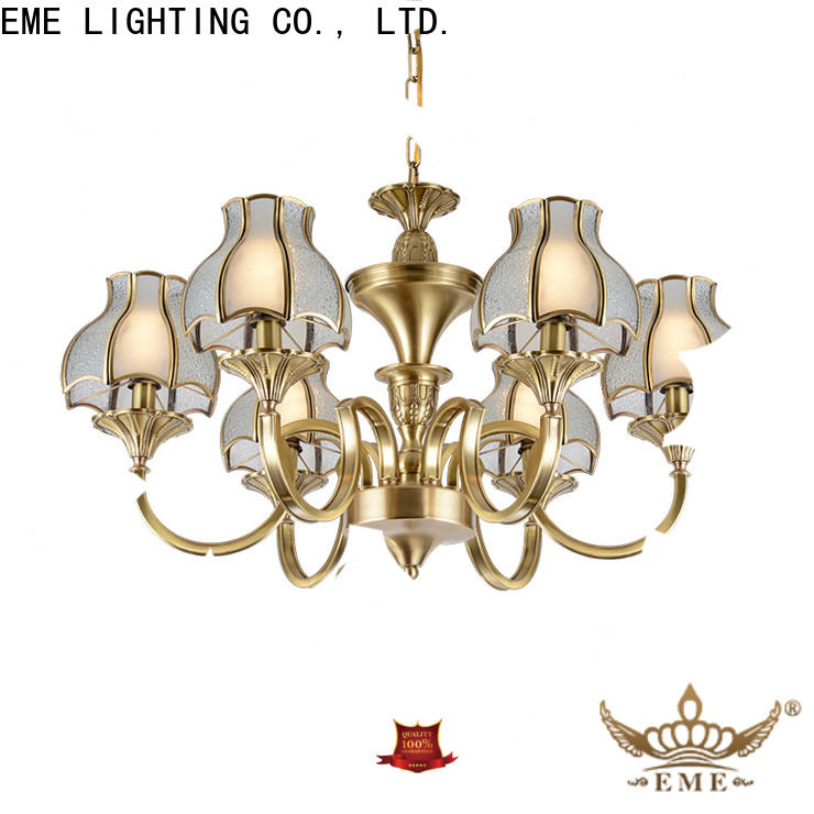 EME LIGHTING glass hanging chandelier over dining table residential for big lobby