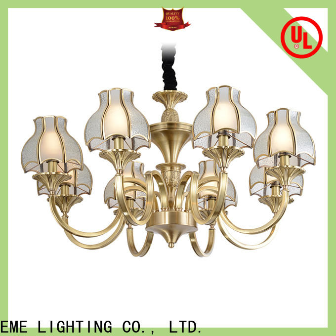 EME LIGHTING concise brushed brass chandelier residential for home