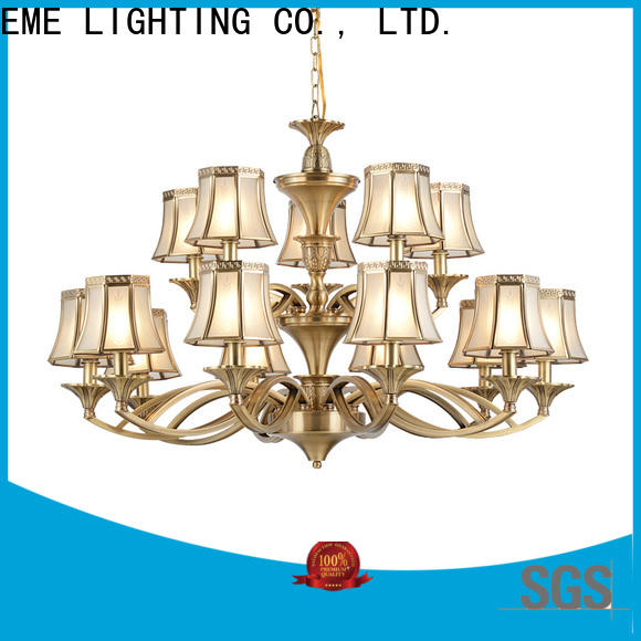 EME LIGHTING copper chandelier over dining table unique for big lobby