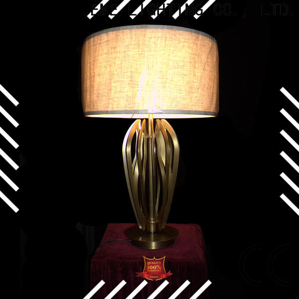 contemporary glass table lamps for bedroom European style copper material for house