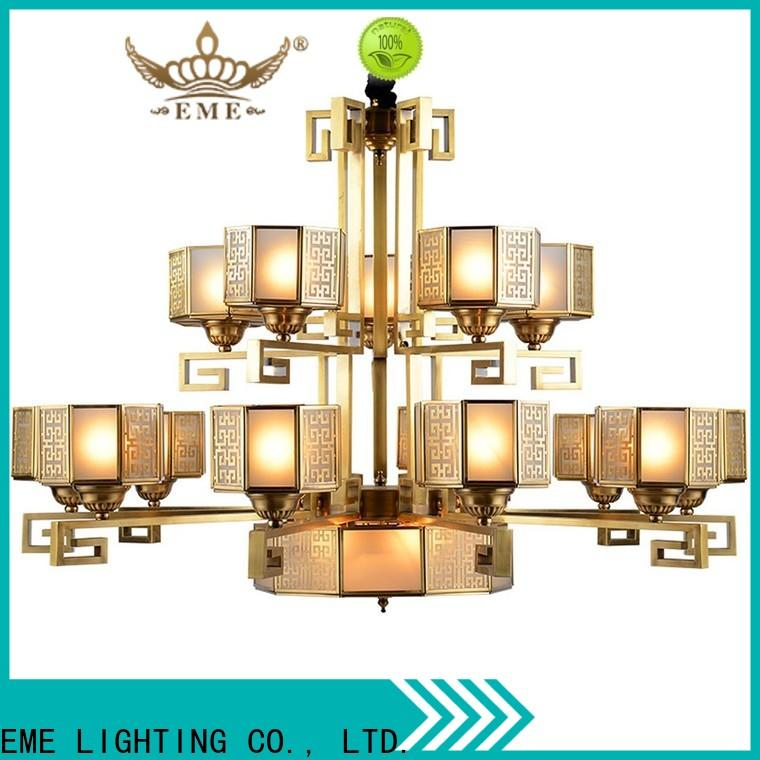 modern restaurant chandeliers copper European