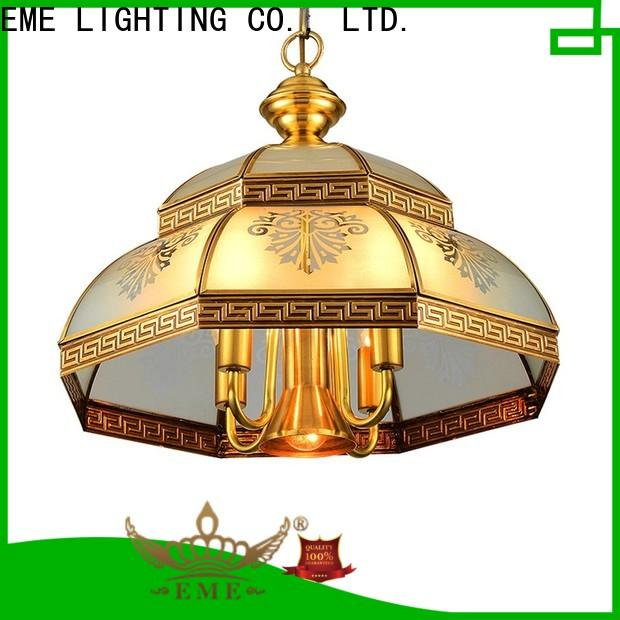 EME LIGHTING american style antique copper pendant light European for dining room