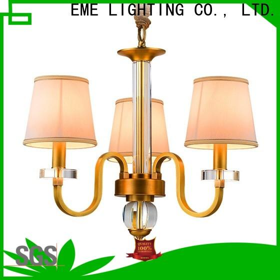 EME LIGHTING copper bronze crystal chandelier European for home