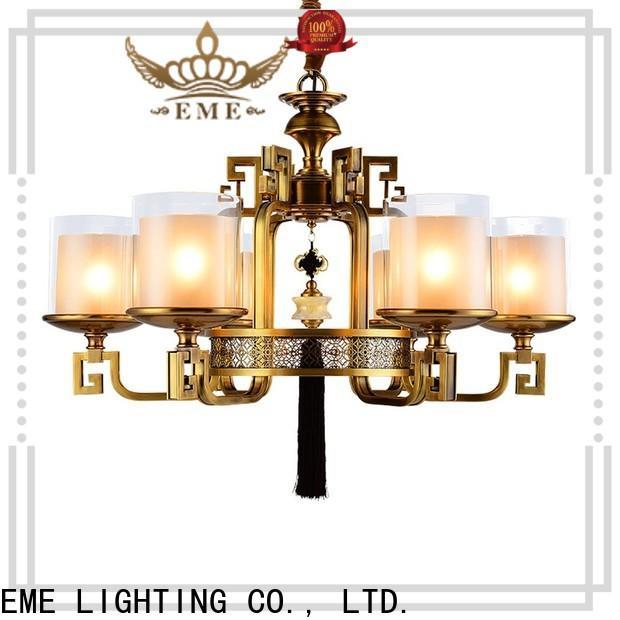EME LIGHTING large antique brass chandelier unique