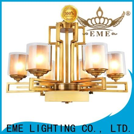 EME LIGHTING concise solid brass chandelier vintage for dining room