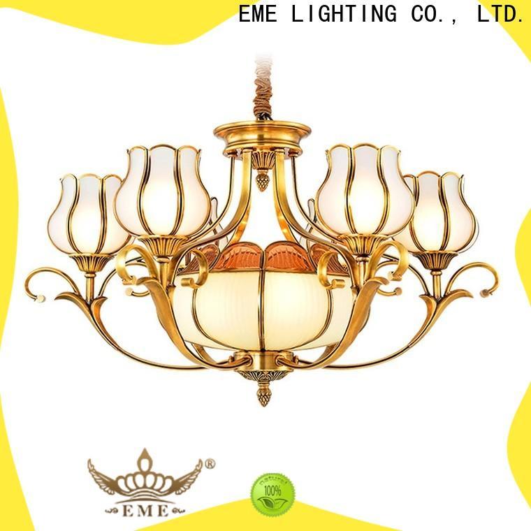 EME LIGHTING luxury bronze crystal chandelier traditional for home