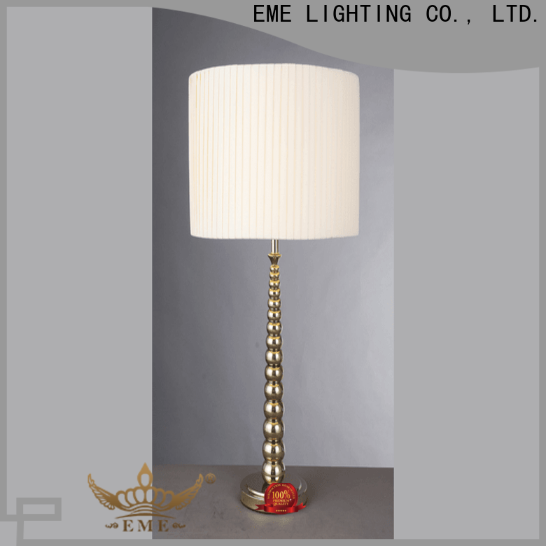 contemporary wood table lamp modern unique design brass material for bedroom