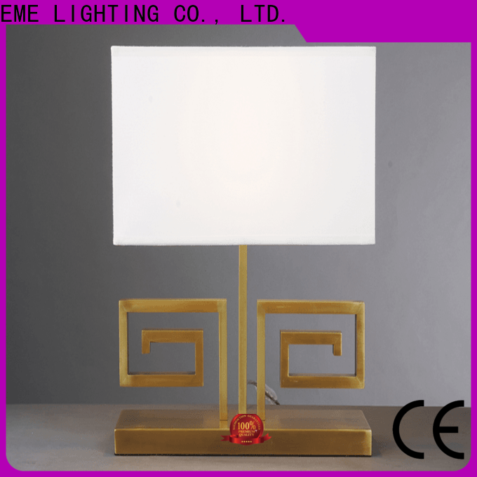 EME LIGHTING contemporary glass table lamps for living room brass material for restaurant