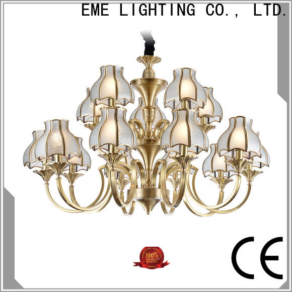 EME LIGHTING copper bronze crystal chandelier unique for big lobby